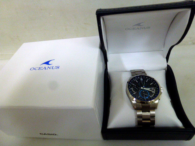 7662da0f72 8160 未使用 CASIO カシオ オシアナス OCW-T2600-1AJF 電波ソーラー 腕時計 チタン