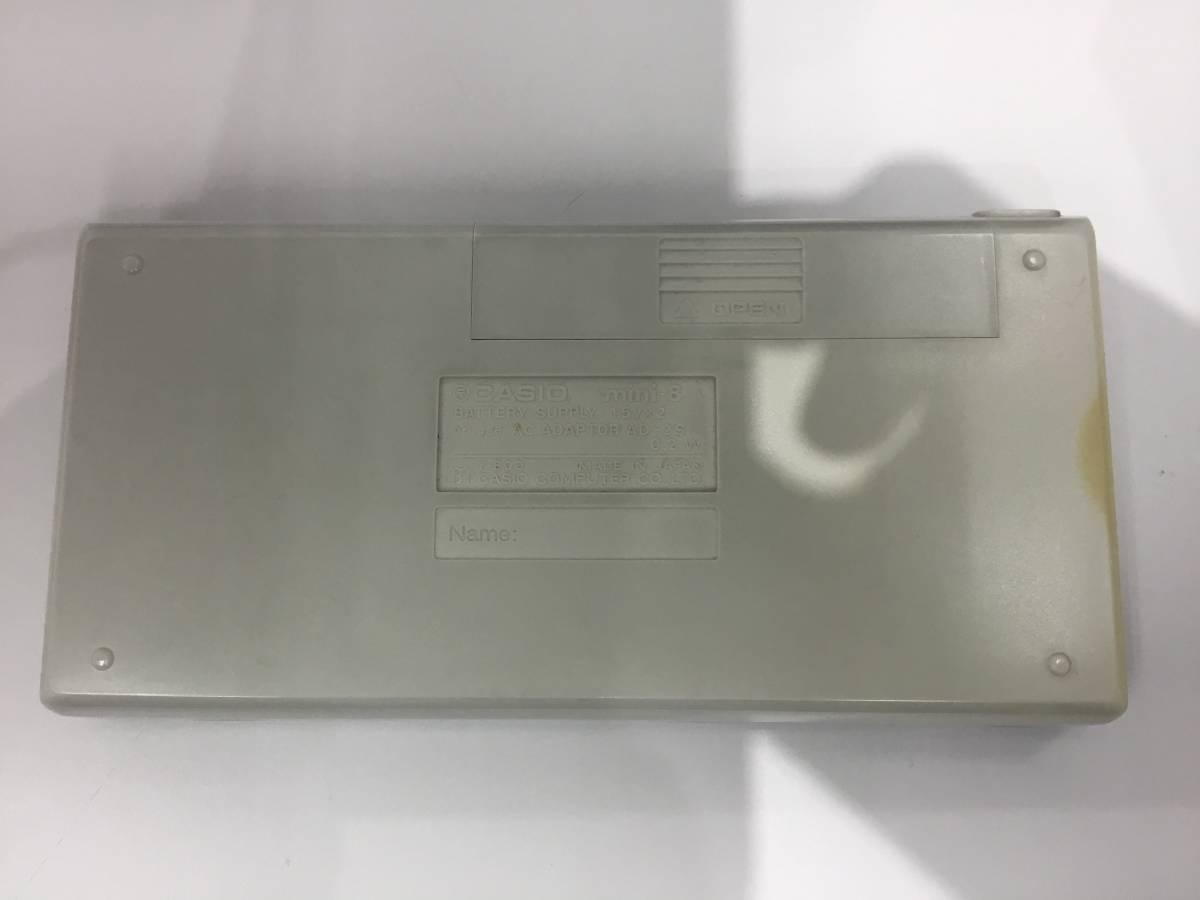 2185.1641 CASIO mini-8 カシオ ミニ8 昭和レトロ 電卓 動作品 +オマケつき_画像3