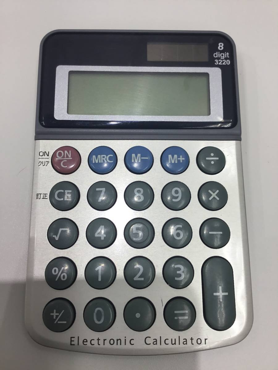 2185.1641 CASIO mini-8 カシオ ミニ8 昭和レトロ 電卓 動作品 +オマケつき_画像9