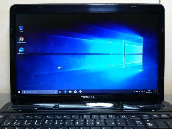 【F54】★全国送料無料★起動約20秒★高速SSDドライブ搭載★Core i5/メモリ4GB★T350 プレシャス・ブラック/Windows 10 Home 搭載!_画像2