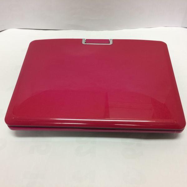 9インチ ポータブルDVDプレーヤー マゼンタ ZOX DS-PP90NC114MG 動作品 状態良 取扱説明書以外の箱付属品完備_画像4