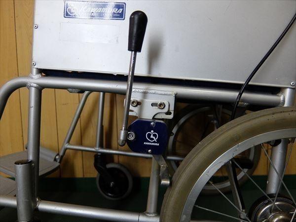880●カワムラサイクル 介助式車いす 車椅子 KA16-40SB アルミ 介助用 低床 補助 福祉 介護 看護 医療 リハビリ_画像4