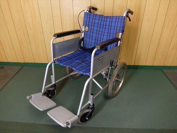 880●カワムラサイクル 介助式車いす 車椅子 KA16-40SB アルミ 介助用 低床 補助 福祉 介護 看護 医療 リハビリ
