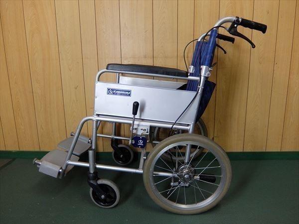 880●カワムラサイクル 介助式車いす 車椅子 KA16-40SB アルミ 介助用 低床 補助 福祉 介護 看護 医療 リハビリ_画像3