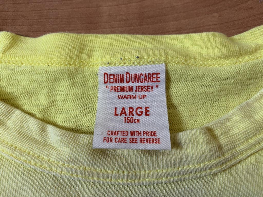 古着■半袖Tシャツ DENIM DUNGAREE デニムタンガリー 子供服/150cm/黄色/バックプリント_画像4