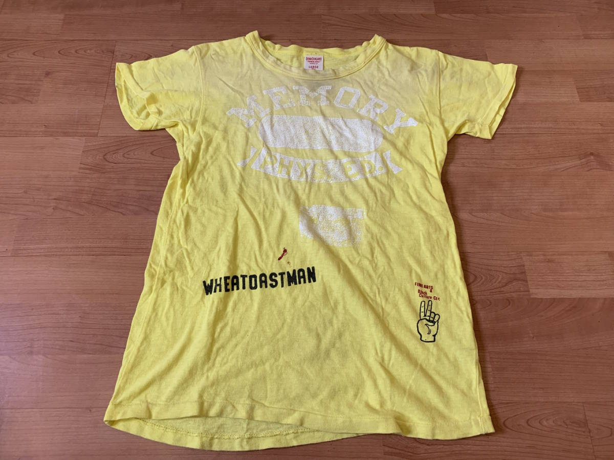 古着■半袖Tシャツ DENIM DUNGAREE デニムタンガリー 子供服/150cm/黄色/バックプリント