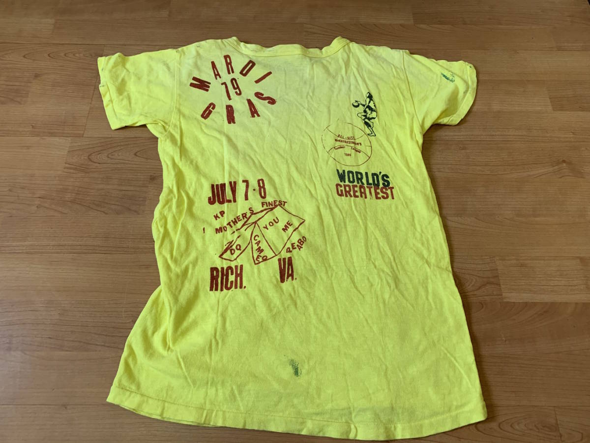 古着■半袖Tシャツ DENIM DUNGAREE デニムタンガリー 子供服/150cm/黄色/バックプリント_画像2