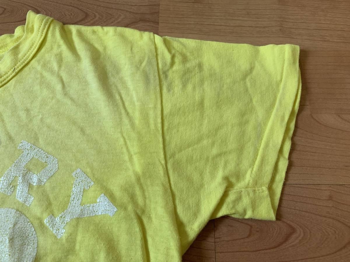 古着■半袖Tシャツ DENIM DUNGAREE デニムタンガリー 子供服/150cm/黄色/バックプリント_画像5