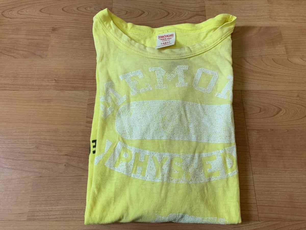 古着■半袖Tシャツ DENIM DUNGAREE デニムタンガリー 子供服/150cm/黄色/バックプリント_画像7