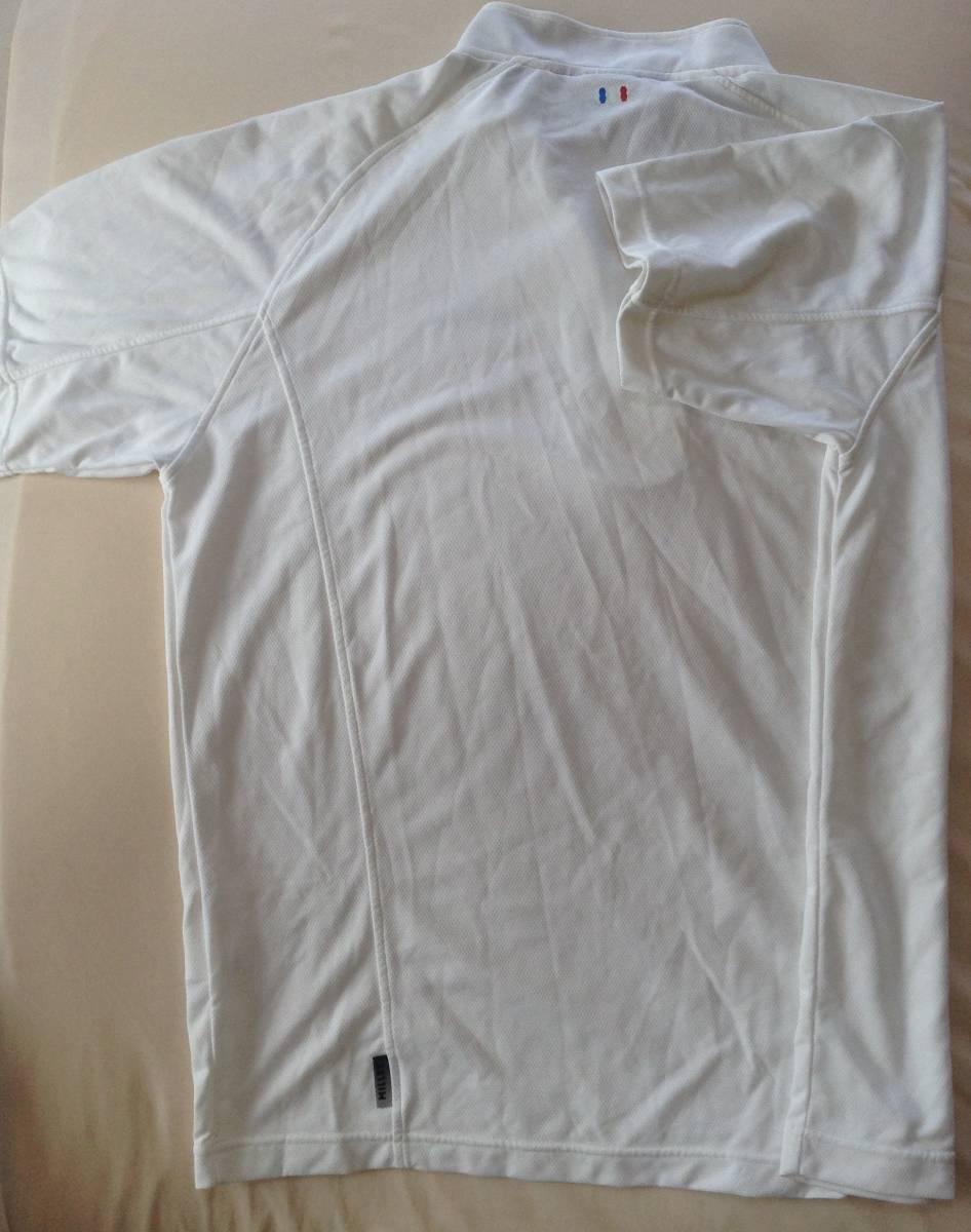 ミレー ハーフジップ Tシャツ Lサイズ 白 速乾 MILLET_画像3