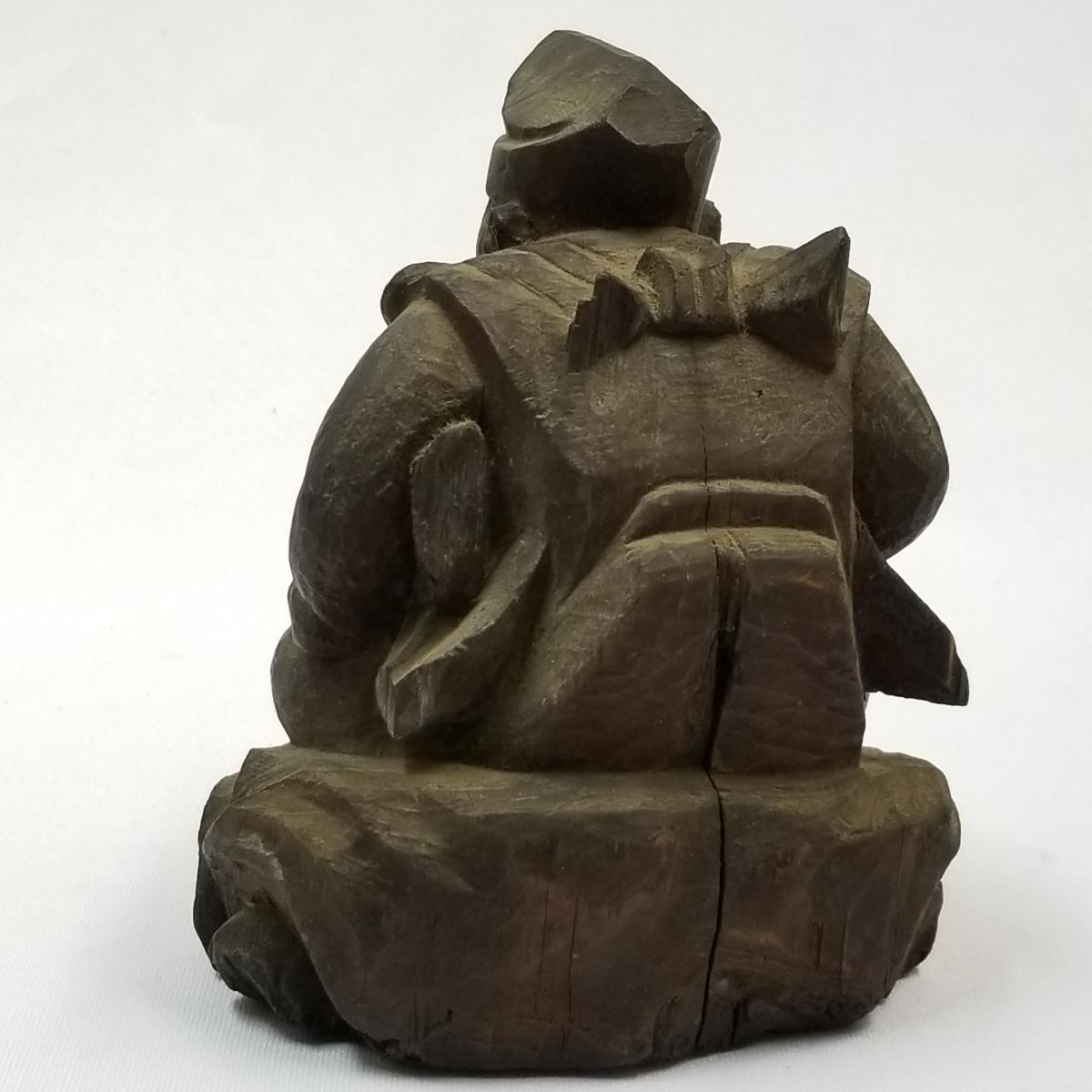 ◇時代物 木製 木彫り 彫刻 置物 恵比寿大黒 検索/ 仏具 仏像 寺院 宗教 東洋 中国美術 アンティーク (t5-3/1_画像10