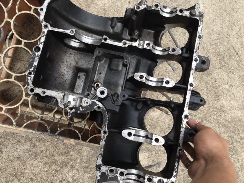 CBX400F 1型2型 550F CBR400F クランク クランクケース 上下 エンジン 当時物_画像10