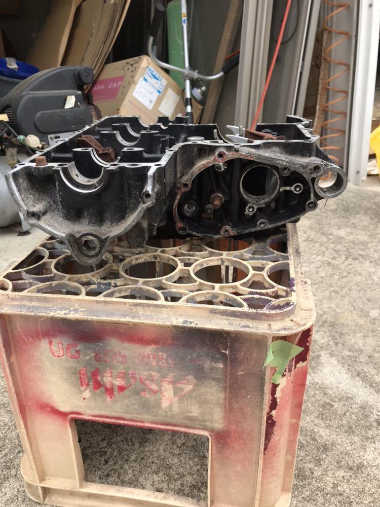 CBX400F 1型2型 550F CBR400F クランク クランクケース 上下 エンジン 当時物_画像2