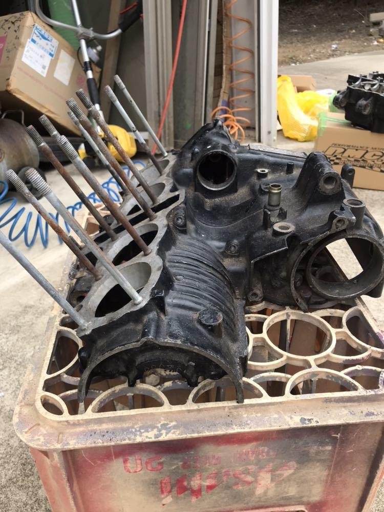 CBX400F 1型2型 550F CBR400F クランク クランクケース 上下 エンジン 当時物_画像7