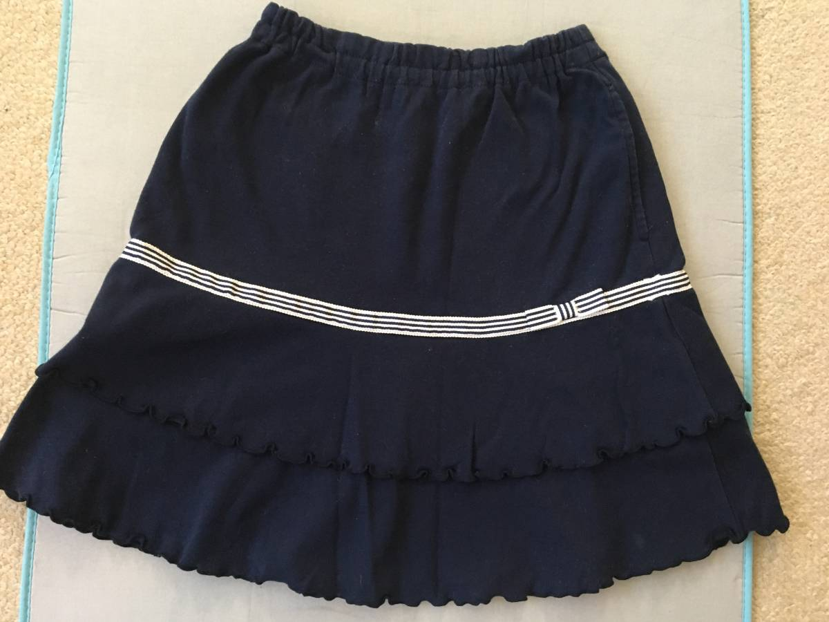 リトルパークスタジオ Little Park Studio 清楚な紺スカート 120 受験 お教室通い 通学にも 美品_画像1