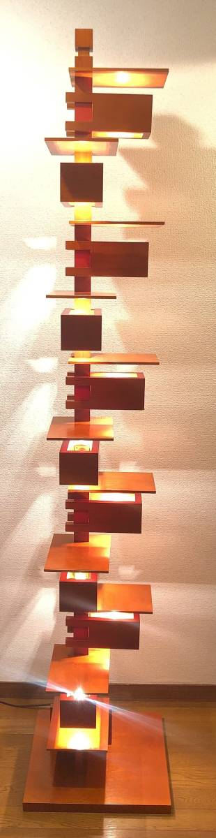 ヤマギワ正規品 Frank Lloyd Wright フランク ロイド ライト TALIESIN 2 タリアセン フロアスタンド [白熱灯][チェリー材]_画像1