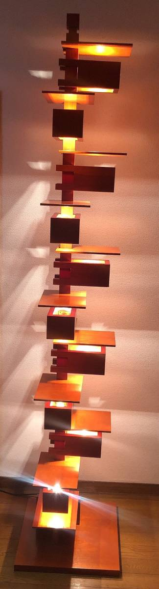 ヤマギワ正規品 Frank Lloyd Wright フランク ロイド ライト TALIESIN 2 タリアセン フロアスタンド [白熱灯][チェリー材]_画像2