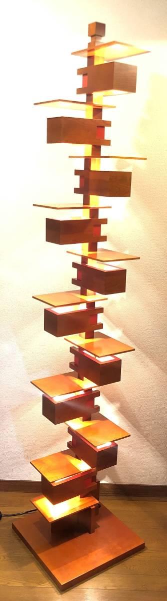 ヤマギワ正規品 Frank Lloyd Wright フランク ロイド ライト TALIESIN 2 タリアセン フロアスタンド [白熱灯][チェリー材]_画像3