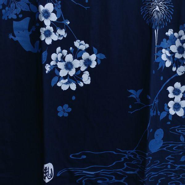 新品 ゲゲゲの鬼太郎 4L XXXL サイズ Tシャツ 和柄 キャラ グッズ ネイビー 8300_画像3