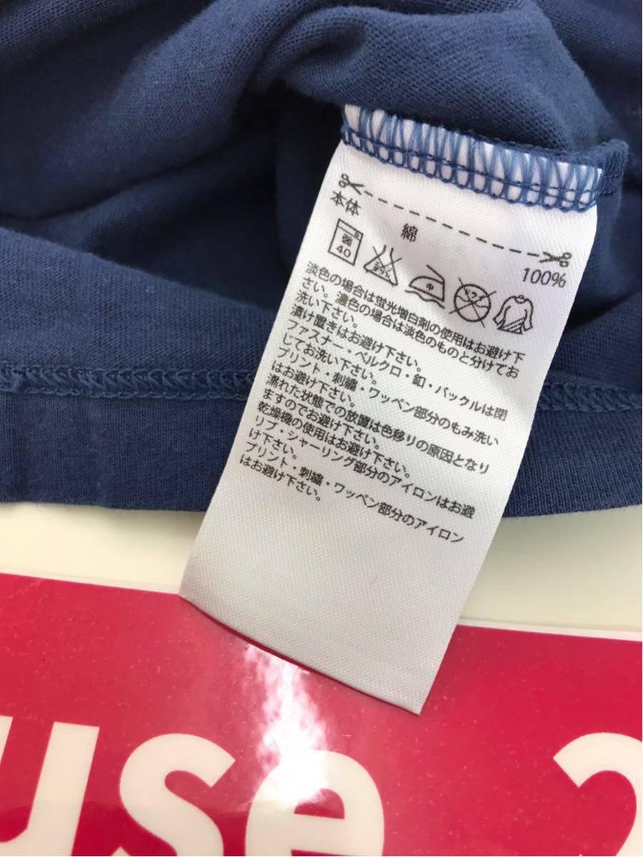 adidas アディダスオリジナルス レディース Tシャツ 半袖 ボートネック プリントT デカロゴ サイズOT ネイビー 紺色 【716】_画像9
