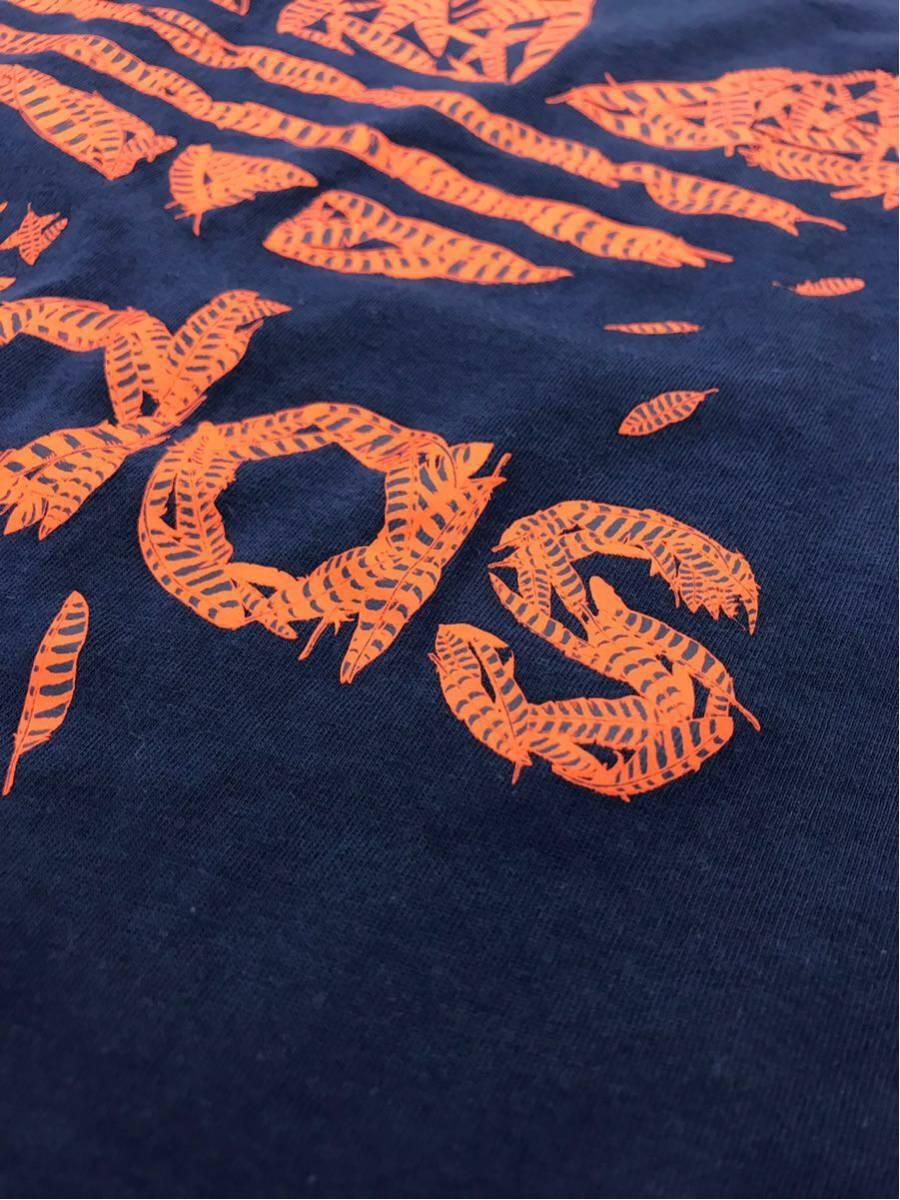 adidas アディダスオリジナルス レディース Tシャツ 半袖 ボートネック プリントT デカロゴ サイズOT ネイビー 紺色 【716】_画像8