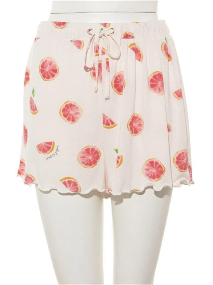 gelato pique【ONLINE 限定】ピンクグレープフルーツTシャツ&ショートパンツ&巾着SET_画像6
