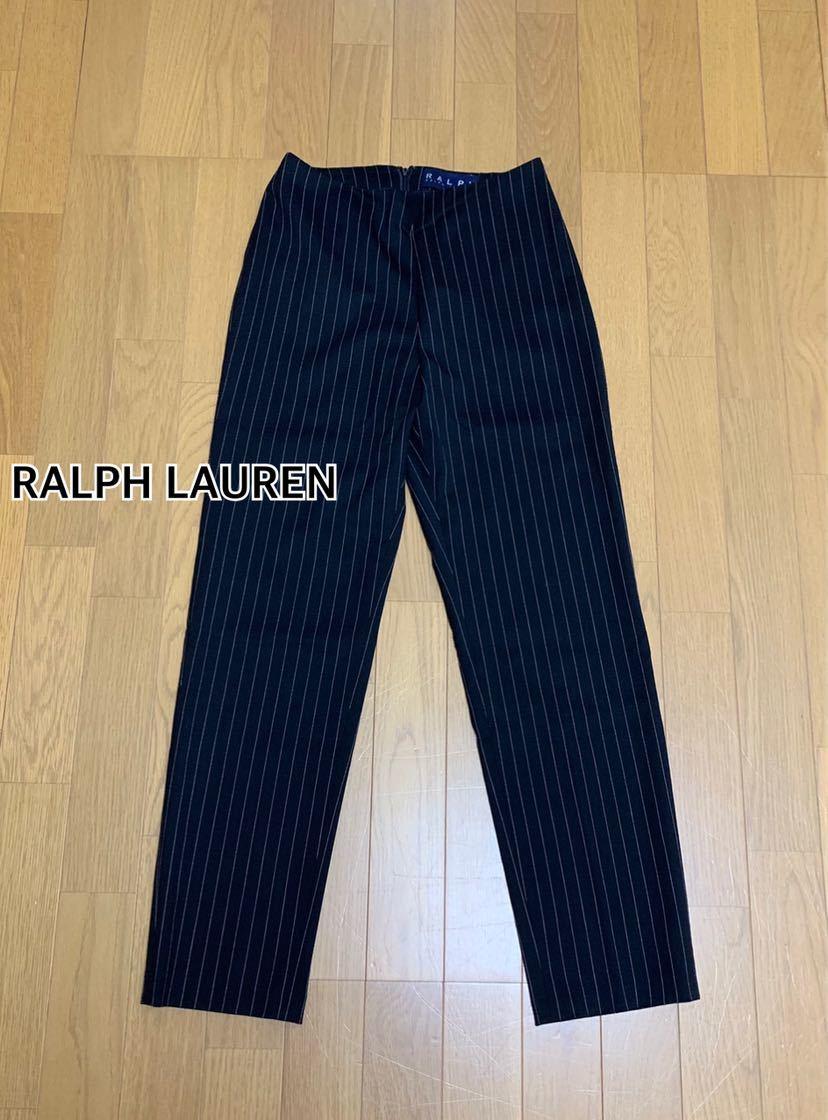 ■ RALPH LAUREN ラルフローレン■ストライプパンツ レディース IMPACT インパクト21:W60☆BH-430_画像1