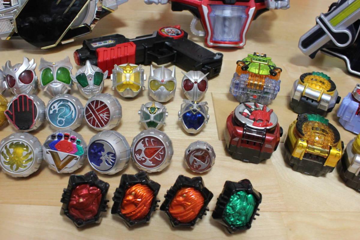 仮面ライダー ウィザード 鎧武 変身ベルト ラジコン リング ロックシード 大量セット_画像7