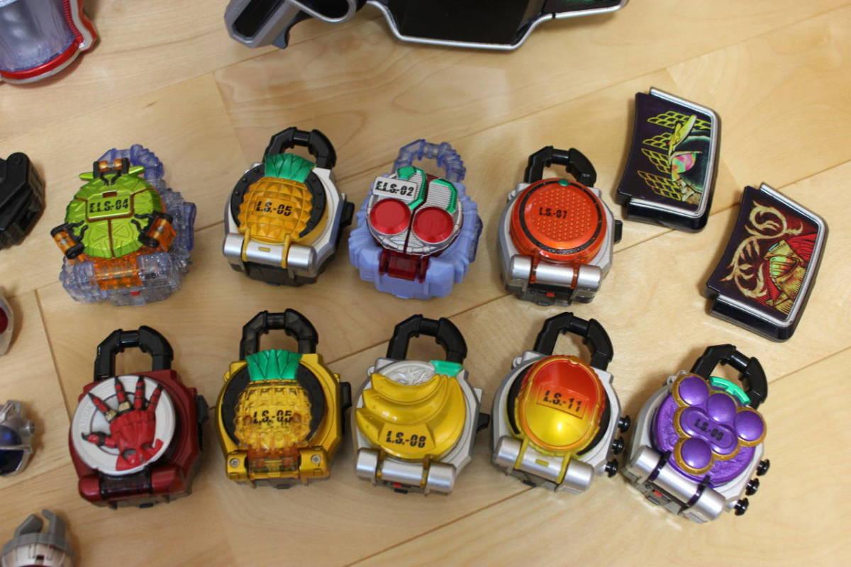 仮面ライダー ウィザード 鎧武 変身ベルト ラジコン リング ロックシード 大量セット_画像8