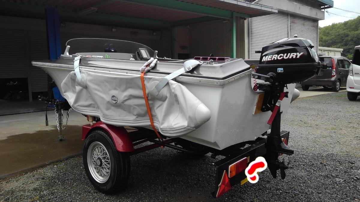 2馬力 ボート 漁探 トレーラー サイドフロート