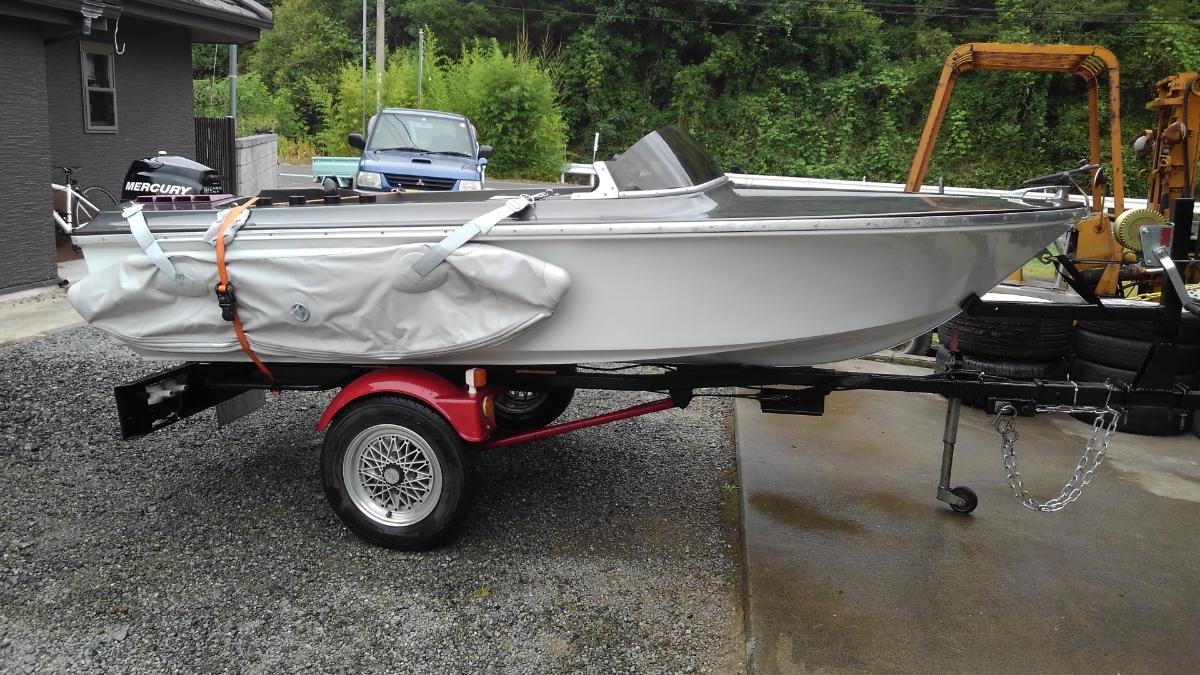 2馬力 ボート 漁探 トレーラー サイドフロート_画像3