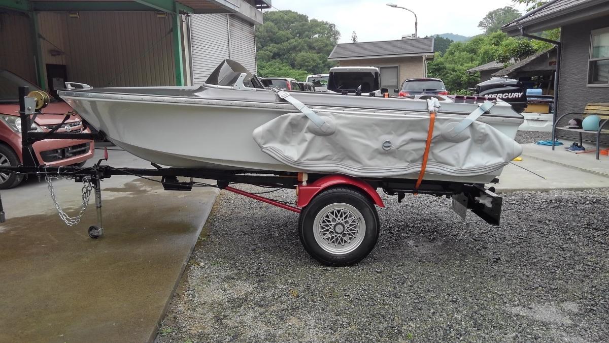 2馬力 ボート 漁探 トレーラー サイドフロート_画像4