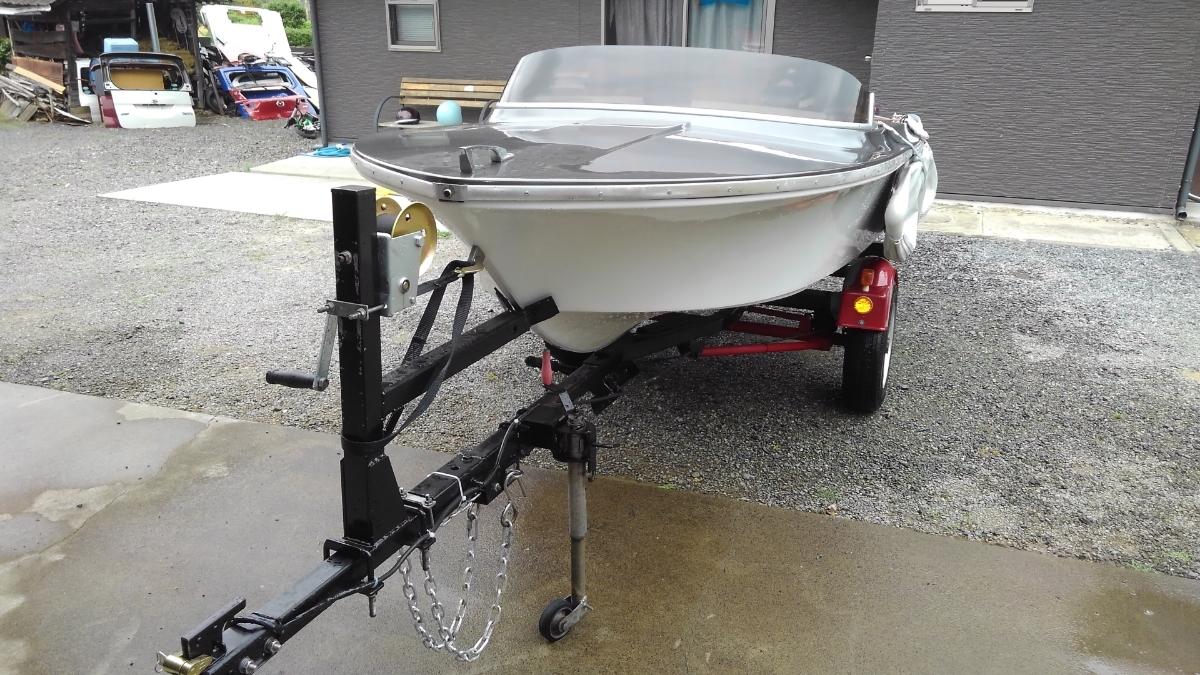 2馬力 ボート 漁探 トレーラー サイドフロート_画像5