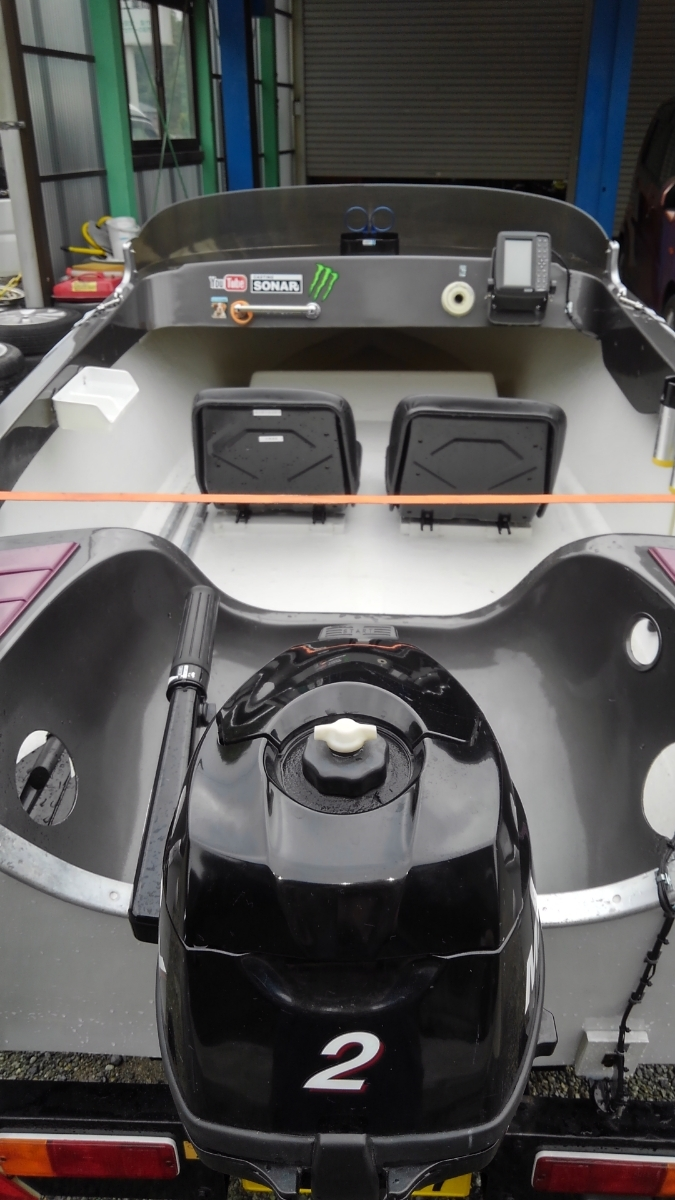 2馬力 ボート 漁探 トレーラー サイドフロート_画像6