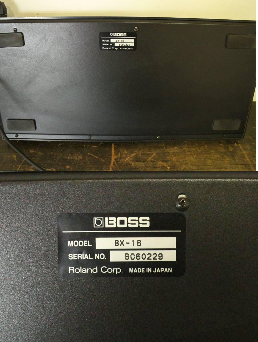 BOSS BX-16【16チャンネル ステレオミキサー】/公共施設払い下げ ACアダプター付き 楽器 音響 オーディオ DJ機材 ボス_画像8