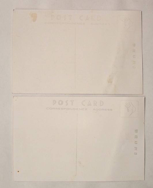 昭和 レトロ 天然色 旅館 絵葉書 大野屋 熱海 温泉 ローマ風呂 建物 浴場 大広間 ホテル 広告 ノベルティ_紙のヨレシワ/波打ちぐせあり