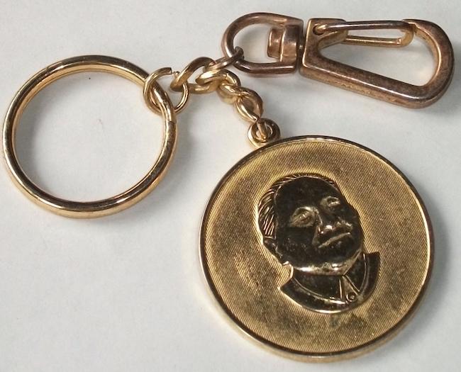 古い キーホルダー 毛沢東 中国 検/ 文化大革命 共産党 肖像 政治家 指導者 社会主義 メダル レトロ ビンテージ_画像1