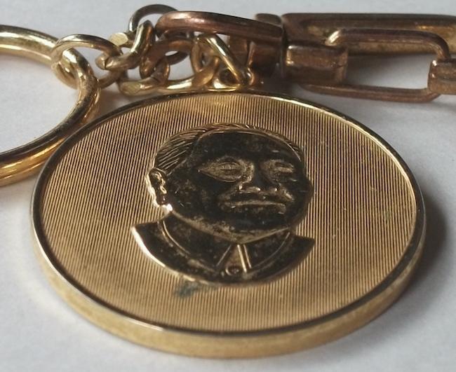 古い キーホルダー 毛沢東 中国 検/ 文化大革命 共産党 肖像 政治家 指導者 社会主義 メダル レトロ ビンテージ_画像5