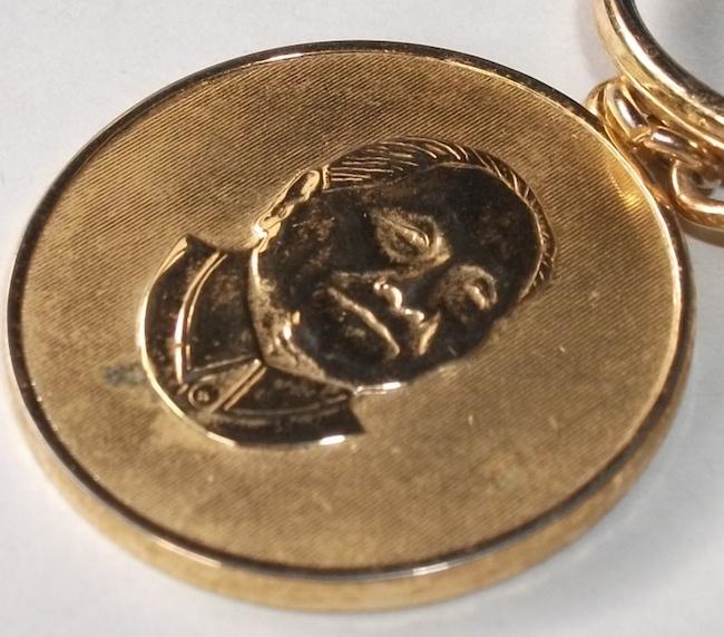 古い キーホルダー 毛沢東 中国 検/ 文化大革命 共産党 肖像 政治家 指導者 社会主義 メダル レトロ ビンテージ_画像6