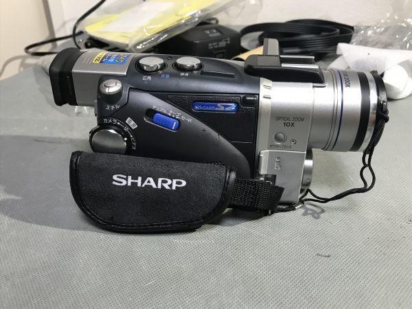 4#D2/2775 SHARP シャープ 液晶デジタルビデオ VL-MS1 ジャンク 未確認 現状品 80サイズ_画像4