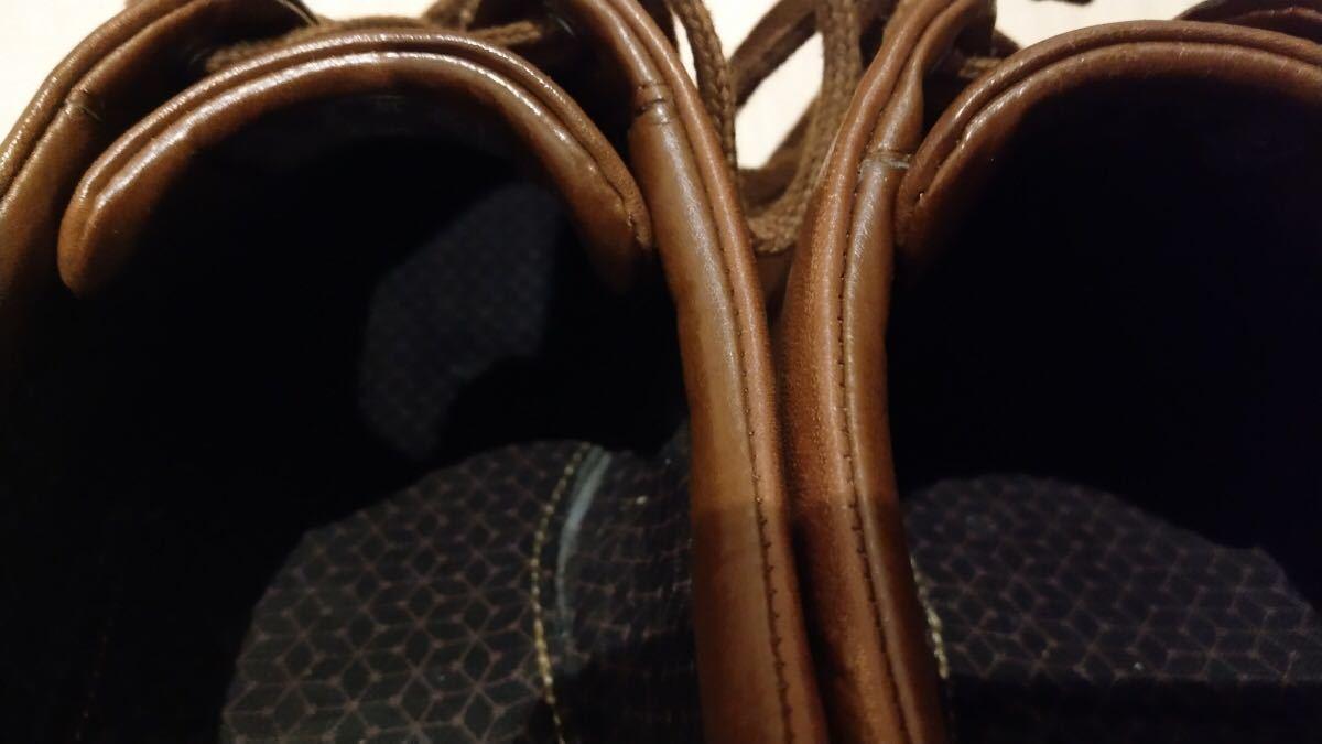 【送料無料】革 スニーカー クラークス スタンウェイ Clarks 箱付 定価1.3万円_画像9