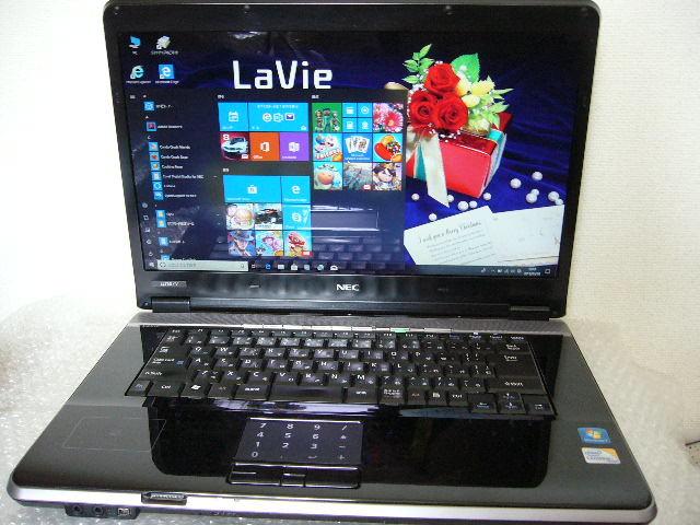 NEC LL750/V Core 2 Duo P8700 2.53GHz 4.0GB 320GB 16インチ液晶 ブルーレイドライブ Win10 Home ACアダプタ