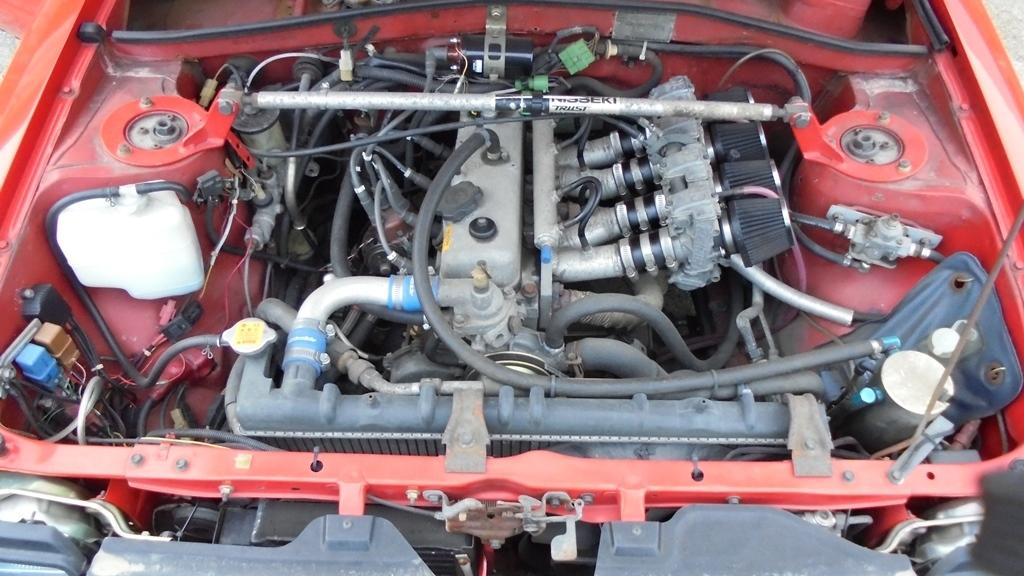 トヨタ スターレット KP61 4K改 直立 FCRキャブなど ボディの程度がイマイチです_画像7
