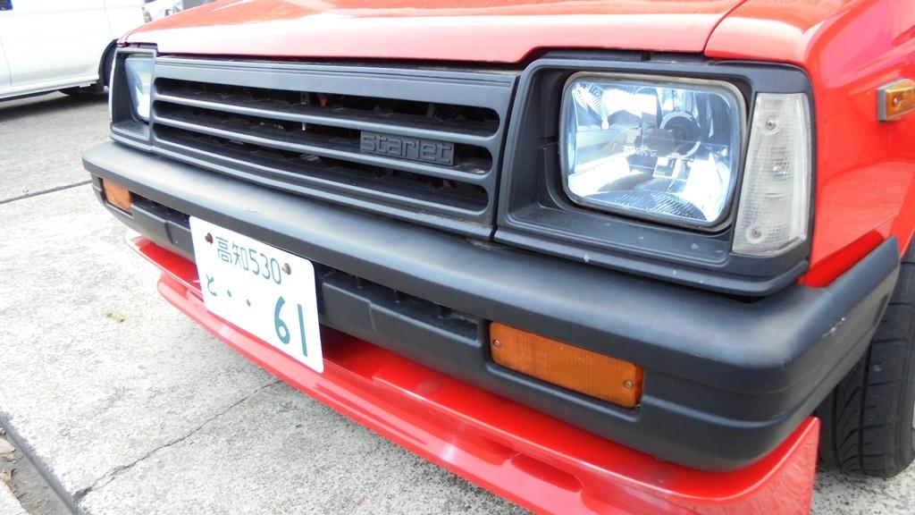 トヨタ スターレット KP61 4K改 直立 FCRキャブなど ボディの程度がイマイチです_画像4