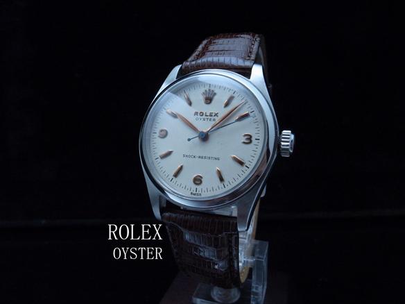 ロレックス ROLEX オイスター アンティーク 1950年代 動作良好 極美品 SS 極希少 本物 価