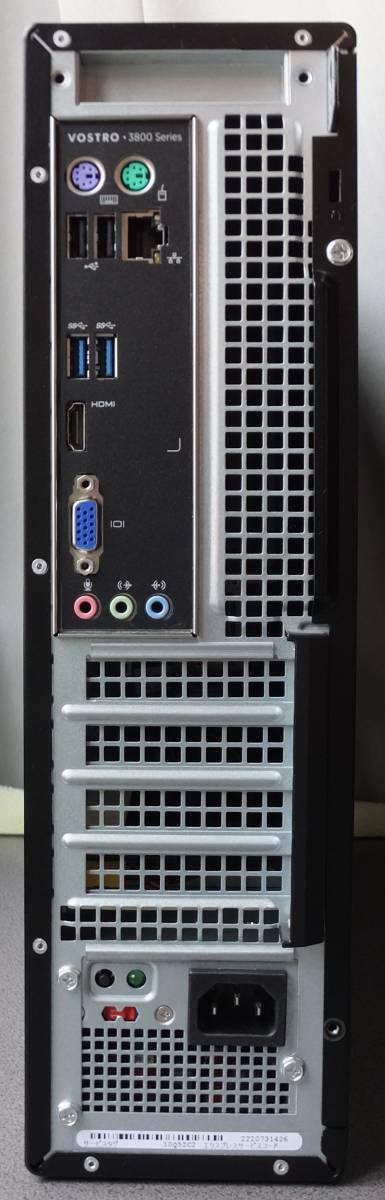 ♪ 第4世代! DELL Vostro3800 i3-4170 Mem4G HDD250G Windows10 ♪ ③ 事務用PCに最適!_画像3