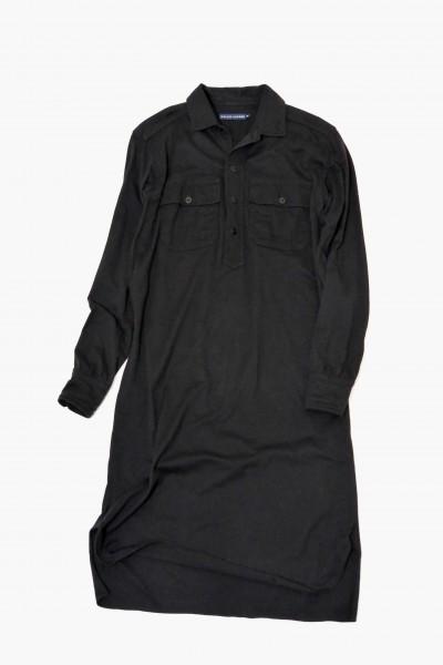 ラルフローレン RALPH LAUREN コットン100% 両裾スリット ロング丈 長袖 シャツ ワンピース♪_画像2
