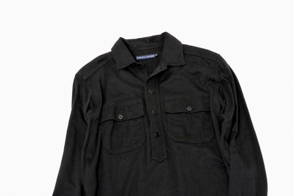 ラルフローレン RALPH LAUREN コットン100% 両裾スリット ロング丈 長袖 シャツ ワンピース♪_画像3