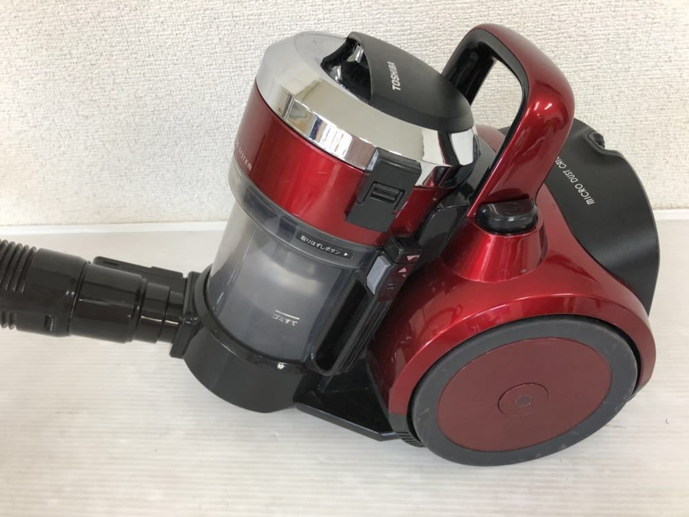 h061304 東芝 サイクロンクリーナー トルネオV 掃除機 VC- SG513(R) グランレッド 2014年制 動作確認済_画像3