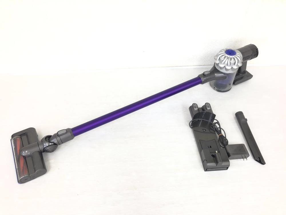 h062112 掃除機 dyson コードレスクリーナー dyson v6 DC62 動作確認済み ダイソン パープル